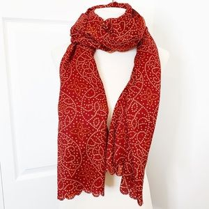 🍁SALE!🍁 Large Long Scarf Shawl Red Patterned